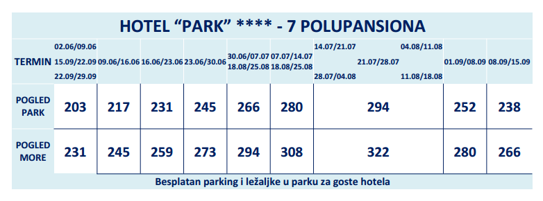 Hotel Park BUDVA - FENIKS TOURS 00
