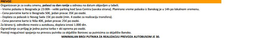 bugarska provoz