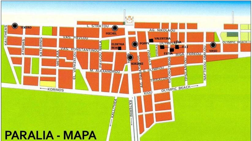 paralia mapa MAPA VILA EMILIOS PARALIA paralia mapa